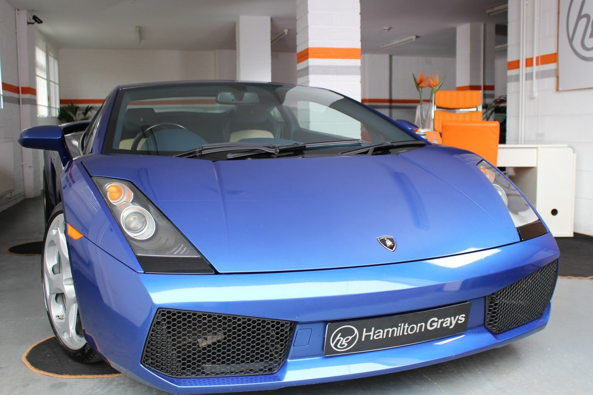 2005 (05) Lamborghini Gallardo 5.0 V10. Blu Caelem  For Sale (picture 1 of 6)