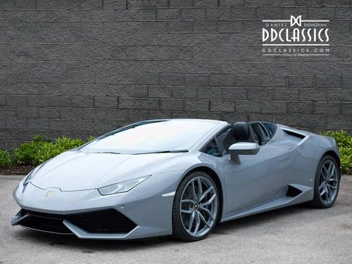 2017 Lamborghini Huracan LP610-4 Spyder (VAT QUAL) (RHD) For Sale (picture 1 of 6)
