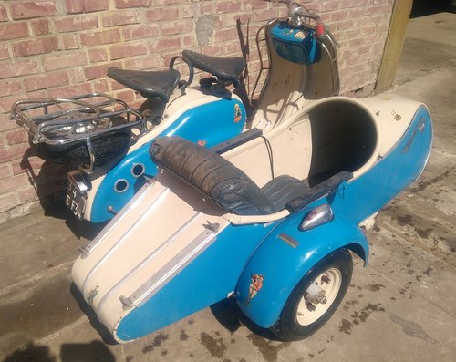 1957 VERY NICE 125 LD LAMBRETTA WITH STEIB LS200 SIDECAR For Sale (picture 2 of 6)