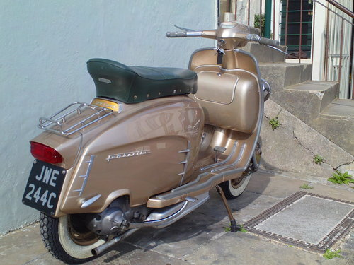 1965 LAMBRETTA LI 150 GOLDEN SPECIAL SOLD (picture 2 of 6)