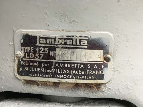 1956 Lambretta 125LD Series II at Morris Leslie Auction 25th May SOLD by Auction (picture 6 of 6)