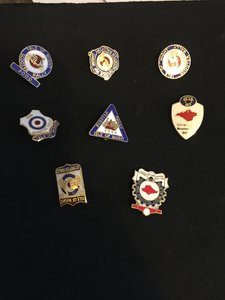 1967 Isle of White Scooter rally badges x 8