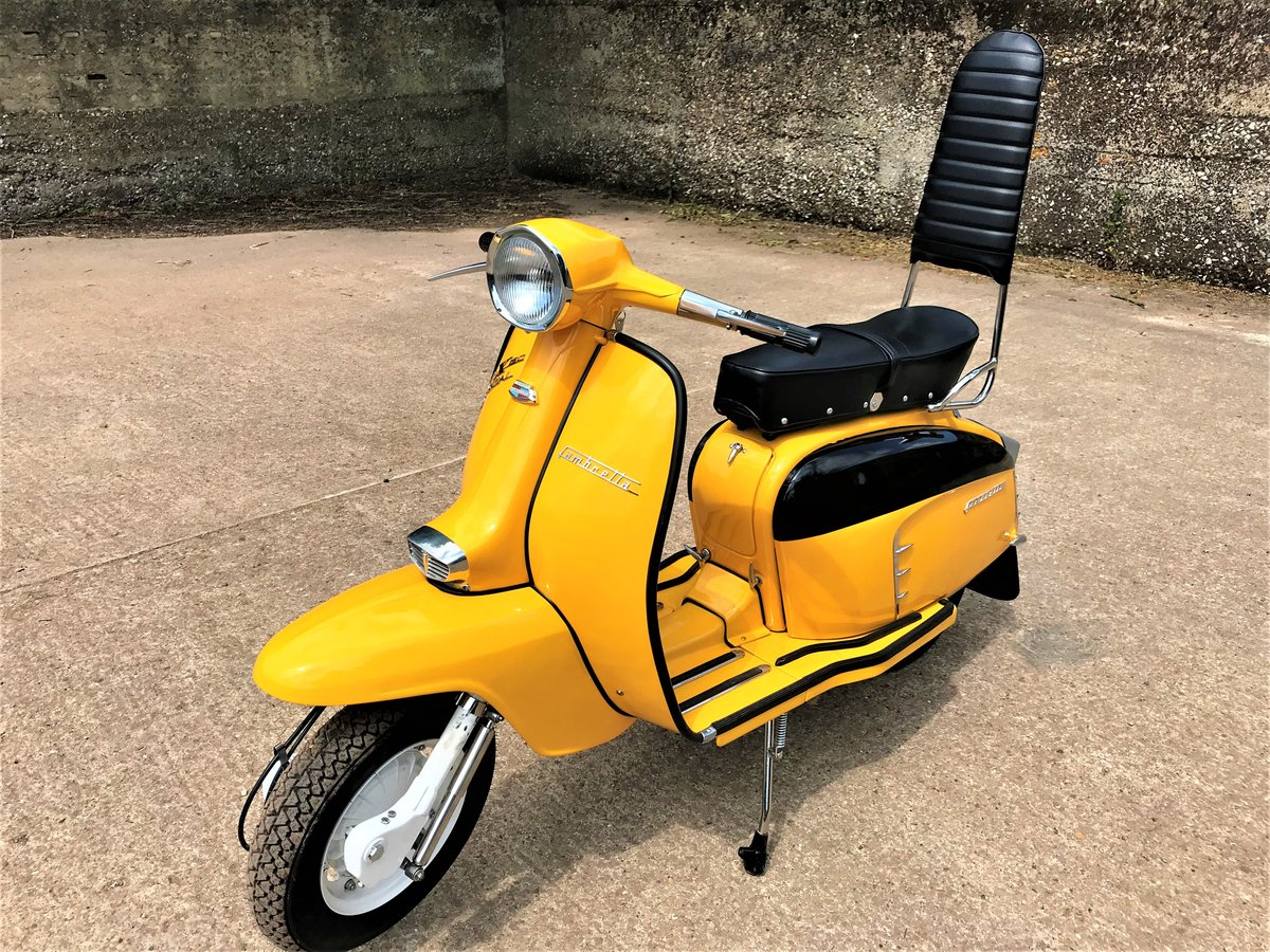 fully rebuilt 1967 Lambretta SX150 special+JAM number plate For Sale (picture 1 of 6)