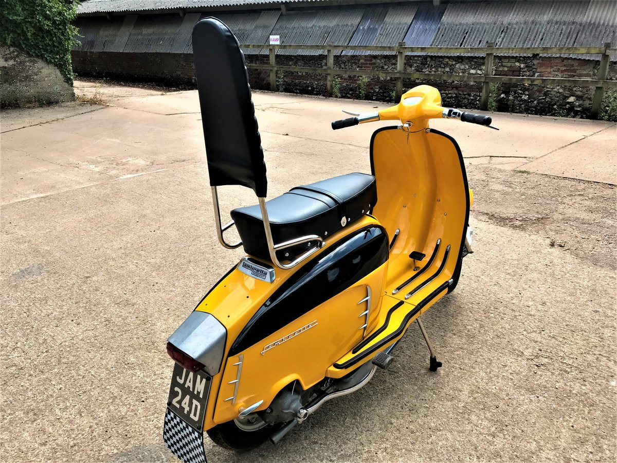 fully rebuilt 1967 Lambretta SX150 special+JAM number plate For Sale (picture 4 of 6)