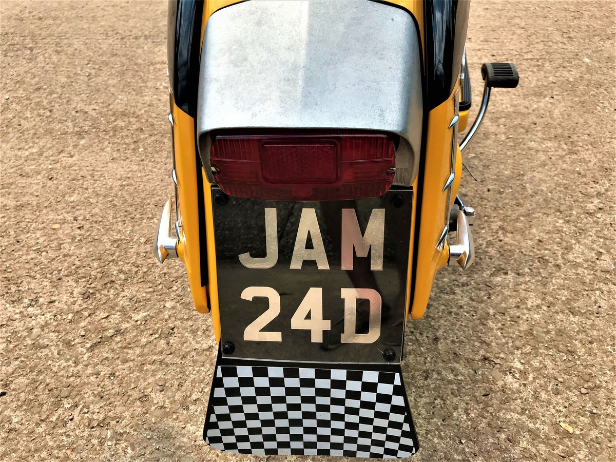 fully rebuilt 1967 Lambretta SX150 special+JAM number plate For Sale (picture 5 of 6)