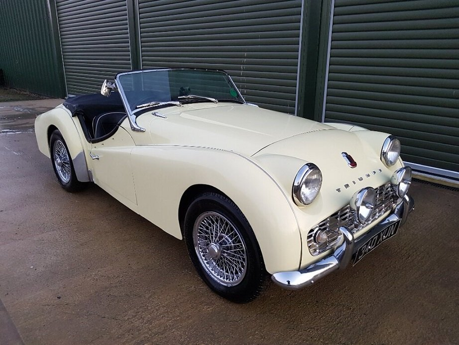 1959 TRIUMPH TR3A 2.0LTR Roadster, Overdrive, Beautiful Condition For Sale (picture 1 of 6)