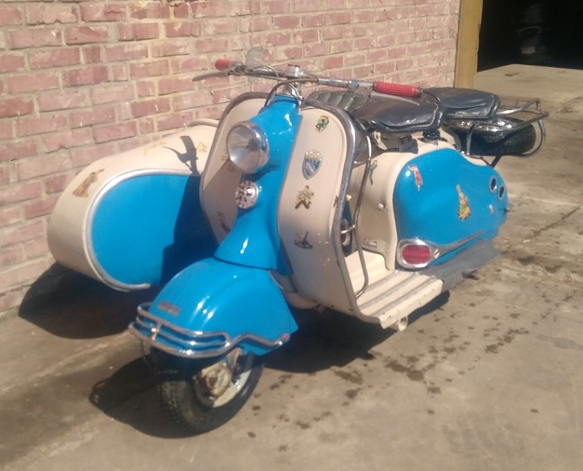 VERY NICE 125 LD LAMBRETTA WITH STEIB LS200 SIDECAR  1957  For Sale (picture 1 of 6)