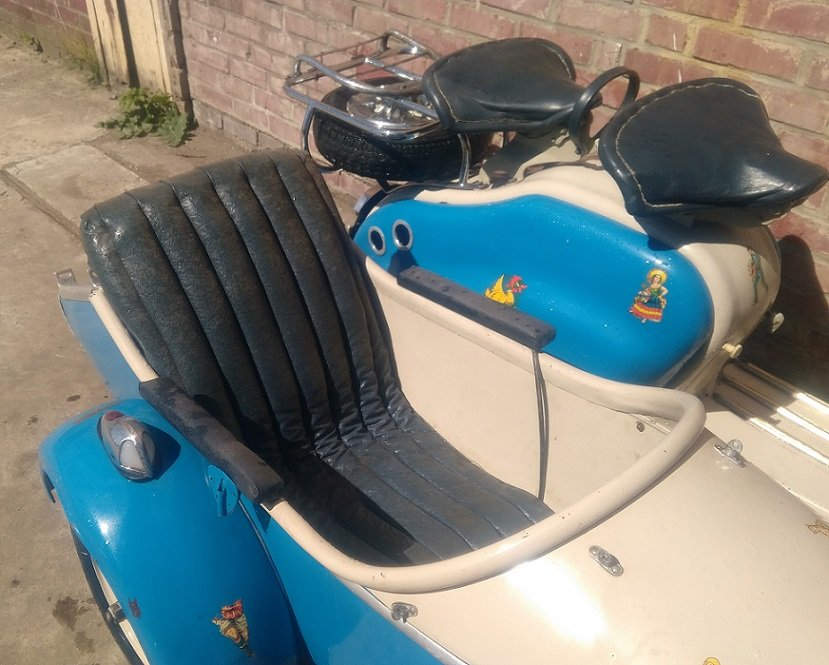 VERY NICE 125 LD LAMBRETTA WITH STEIB LS200 SIDECAR  1957  For Sale (picture 4 of 6)