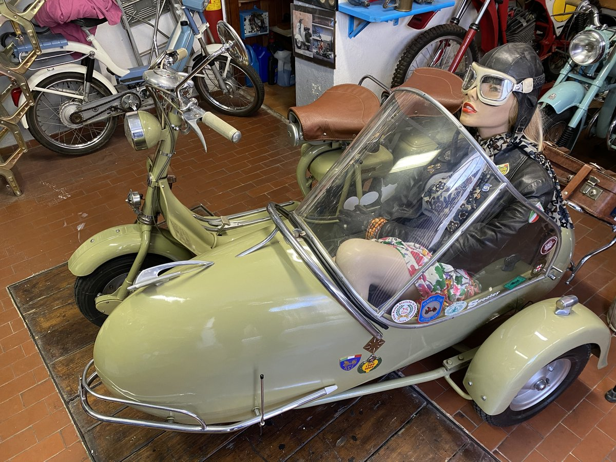 1952 Lambretta 125 D Sidecar Longhi For Sale (picture 1 of 5)