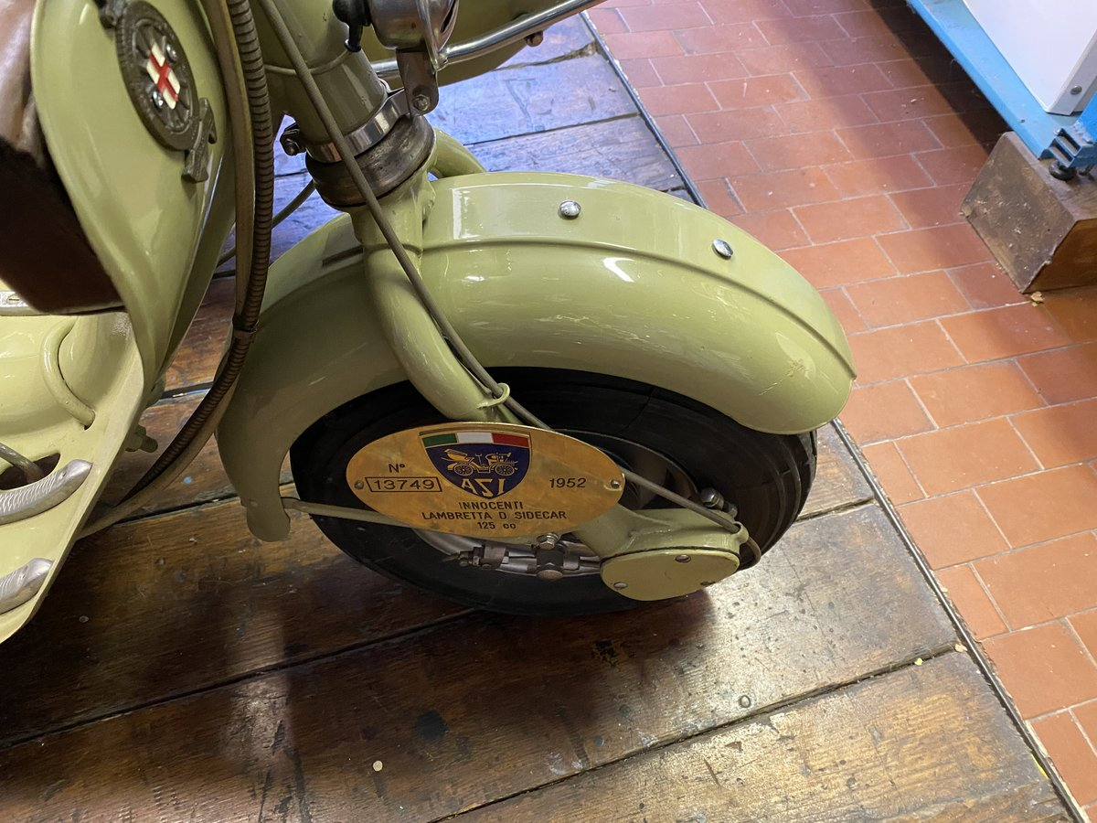 1952 Lambretta 125 D Sidecar Longhi For Sale (picture 3 of 5)