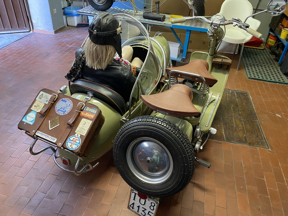 1952 Lambretta 125 D Sidecar Longhi For Sale (picture 4 of 5)
