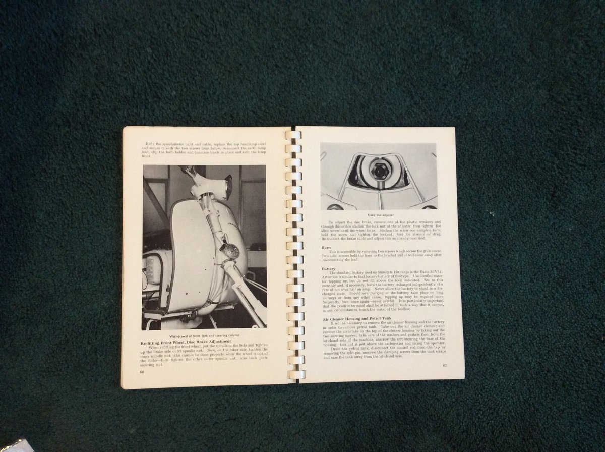 VERY RARE LAMBRETTE WORKSHOP MANUAL For Sale (picture 2 of 4)