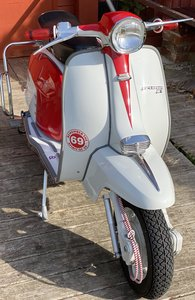 Picture of 1962 Italian lambretta li 125 red & white all work