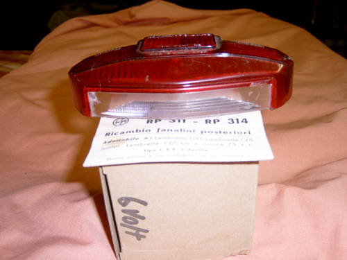 1950 Original Lambretta Scooter Tail lamp lens For Sale (picture 3 of 3)