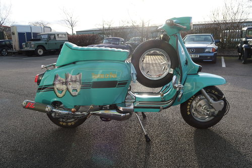 1969 Italian Lambretta GP125 Scooter Customised 190cc For Sale (picture 3 of 6)