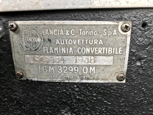 1963 Lancia - Flaminia Convertibile Touring 2.8 3C (826.134) For Sale (picture 6 of 6)