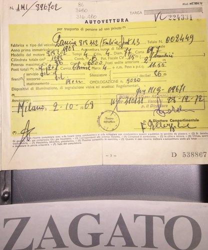 1968 Lancia Fulvia Coupe Sport Zagato For Sale (picture 6 of 6)
