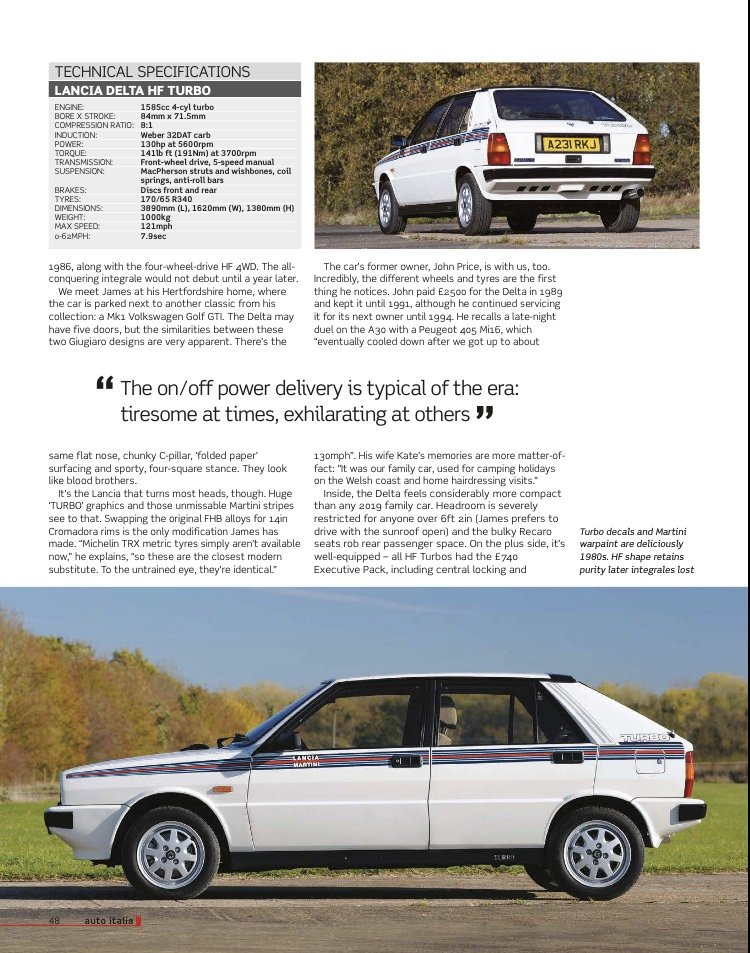 1984 One of a kind Lancia Delta HF Turbo For Sale (picture 2 of 6)