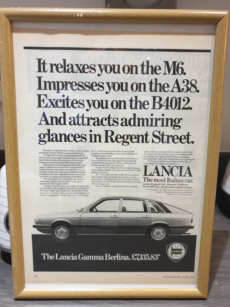 Original 1979 Lancia Gamma Berlina Advert SOLD (picture 1 of 2)