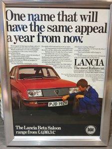 1979 Lancia Beta Saloon Advert Original