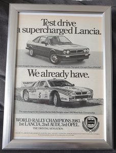 1983 Original Lancia Volumex Coupé advert