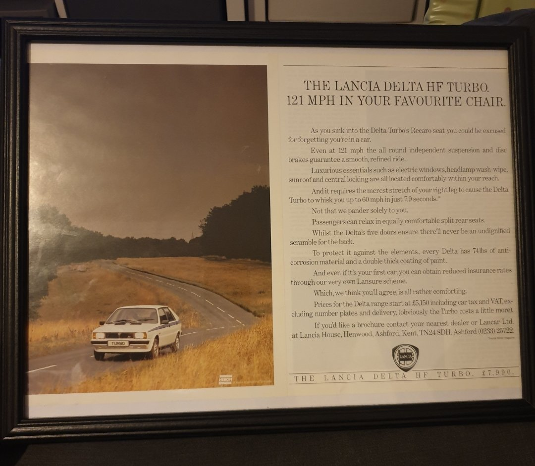 1984 Lancia Delta HF Turbo advert Original  For Sale (picture 1 of 2)