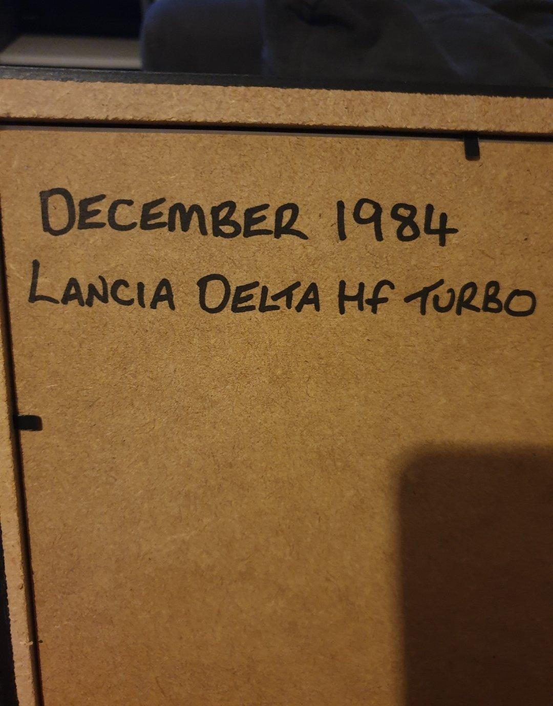 1984 Lancia Delta HF Turbo advert Original  For Sale (picture 2 of 2)