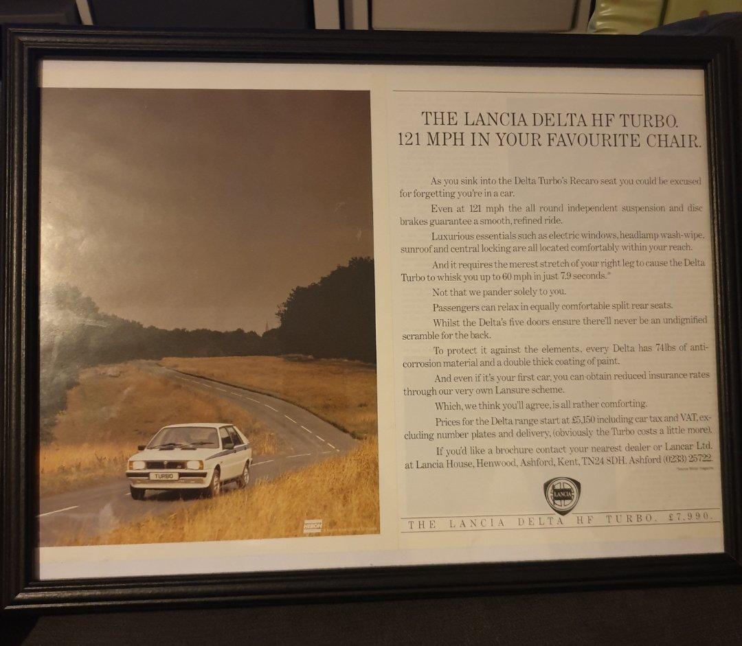 1984 Original Lancia Delta Turbo Advert For Sale (picture 1 of 3)