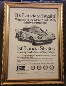 1977 Original Lancia Stratos Advert For Sale