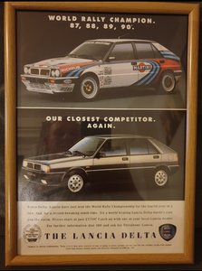 1990 Lancia Delta Turbo Advert Original
