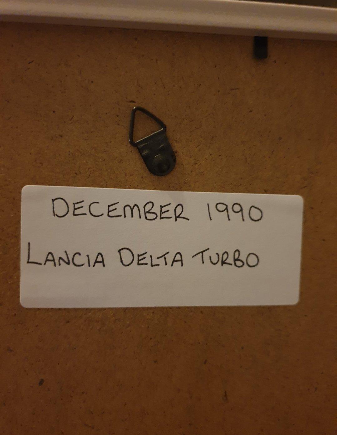 1990 Lancia Delta Turbo Advert Original  For Sale (picture 2 of 2)