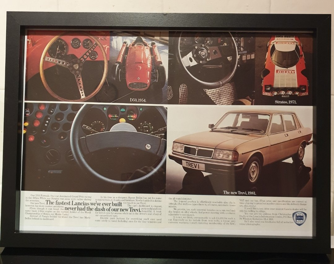1981 Original Lancia Trevi Framed Advert For Sale (picture 1 of 2)