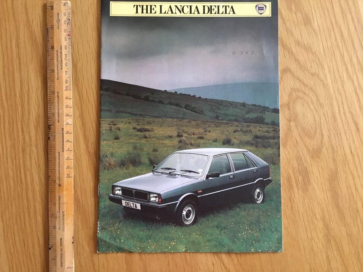 1983 Lancia Delta brochure For Sale (picture 1 of 1)