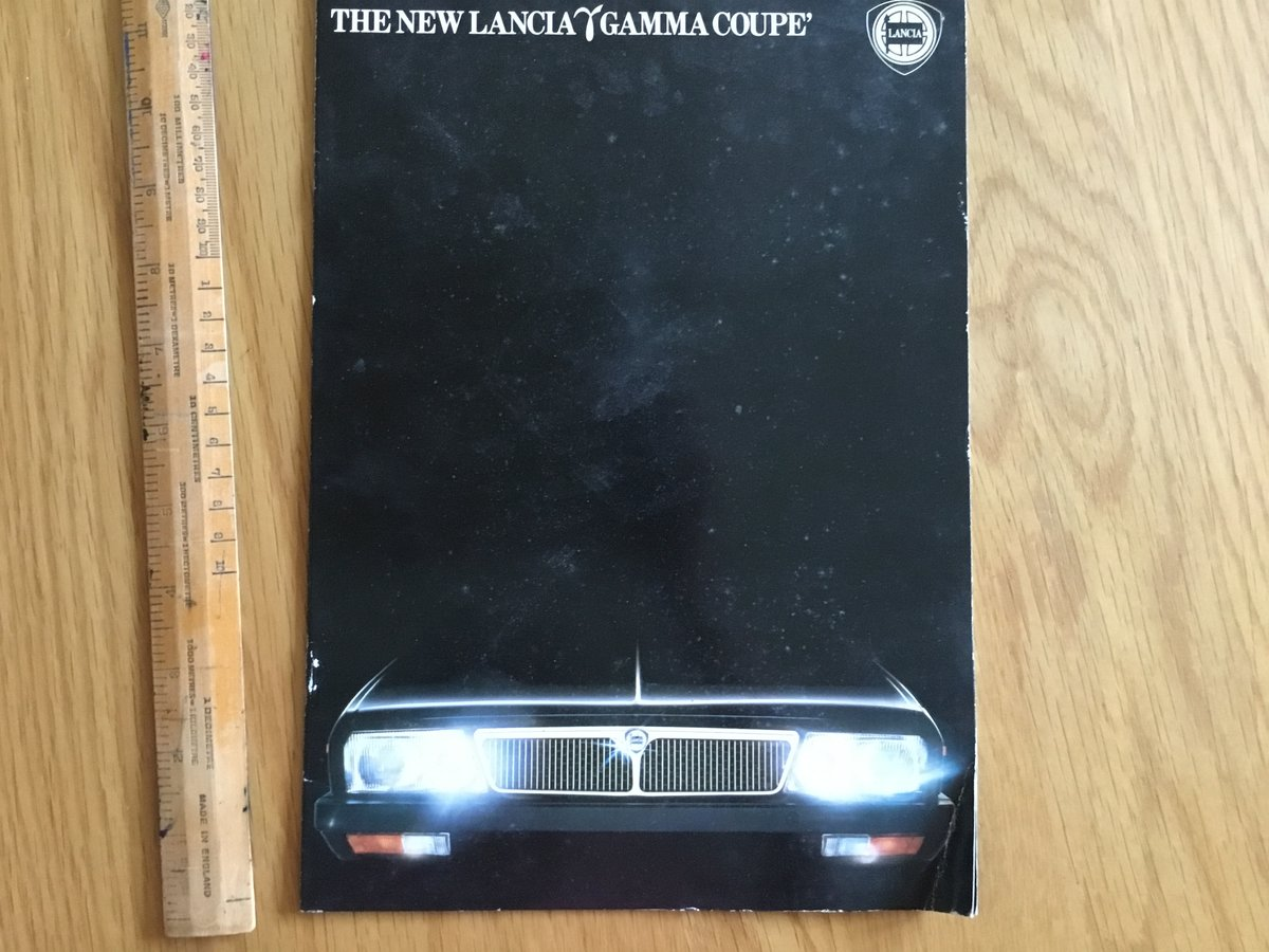 1980 Lancia Gamma Coupe brochure For Sale (picture 1 of 1)