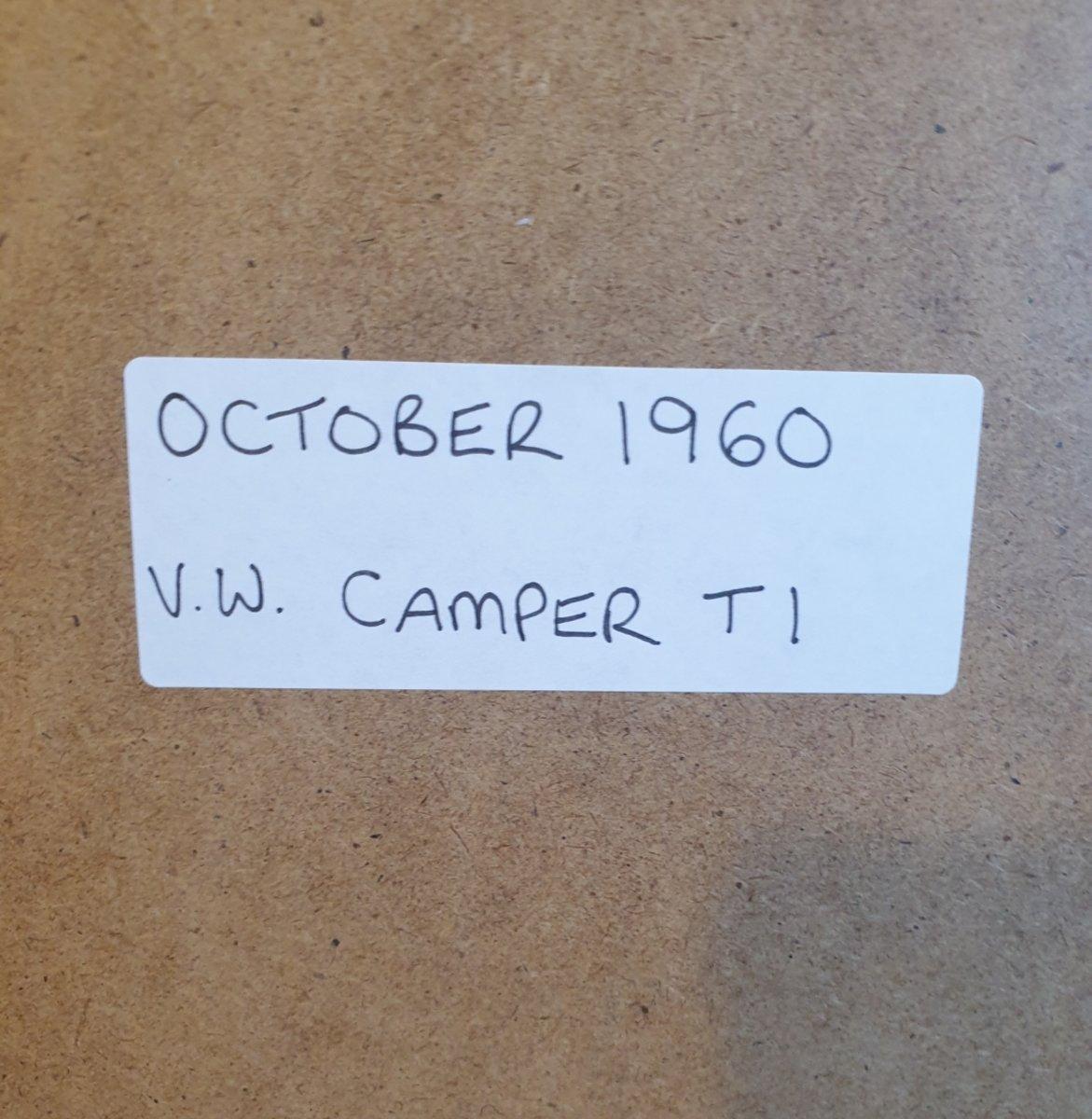 1980 Original 1960 VW Camper Framed Advert For Sale (picture 2 of 3)