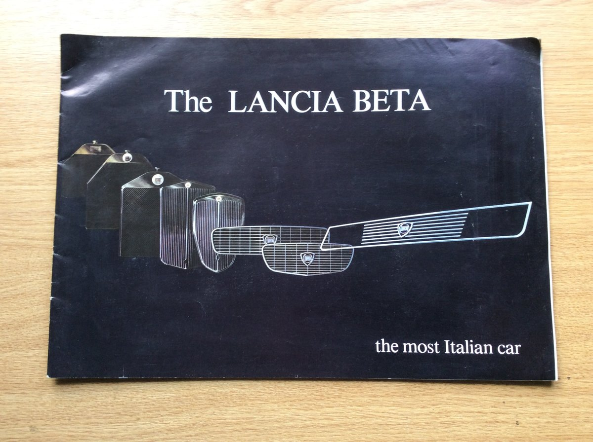 1978 Rare LANCIA BÊTA SALES BROCHURE For Sale (picture 1 of 4)