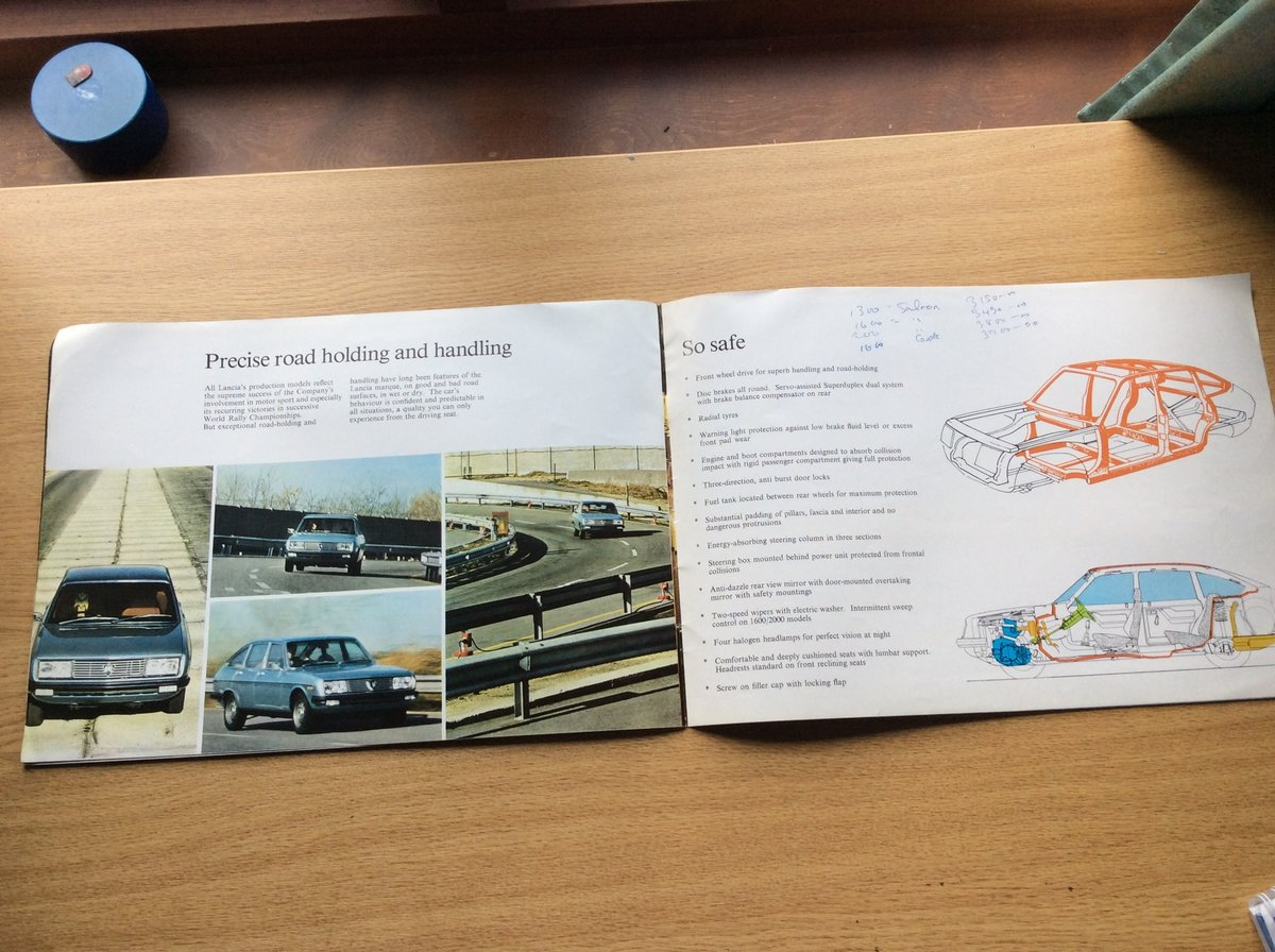 1978 Rare LANCIA BÊTA SALES BROCHURE For Sale (picture 3 of 4)