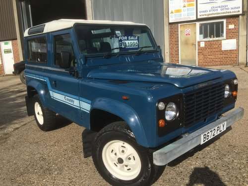 1985 land rover 90county station wagon petrol only 76000 miles mi For Sale (picture 1 of 6)