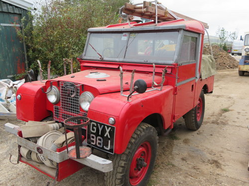 "1954 86"" Land Rover Series 1 Genuine Fire Tender For Sale (picture 1 of 6)"