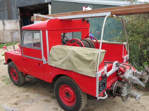 "1954 86"" Land Rover Series 1 Genuine Fire Tender For Sale (picture 2 of 6)"