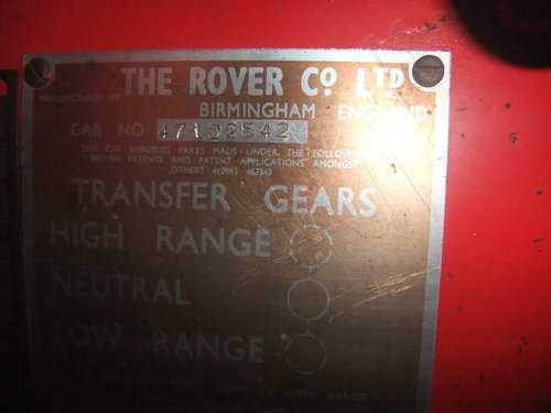 "1954 86"" Land Rover Series 1 Genuine Fire Tender For Sale (picture 6 of 6)"