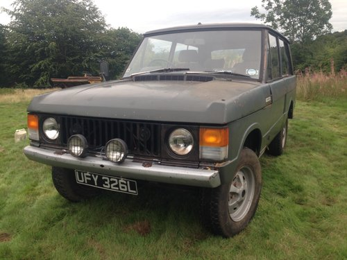 Range Rover 1972 Suffix A 3.5L V8 For Restoration For Sale (picture 1 of 6)