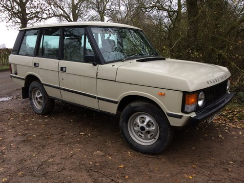 1981 Range Rover Classic, early four door. For Sale (picture 1 of 6)