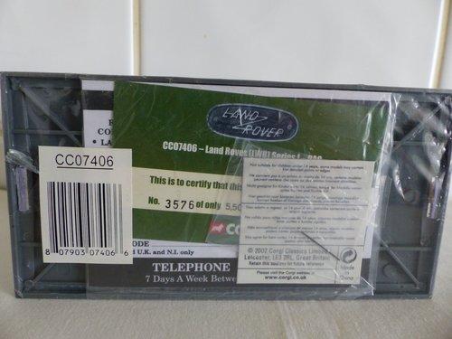 CORGI LAND ROVER RAC RADIO PATROL 1:43 SCALE For Sale (picture 4 of 6)