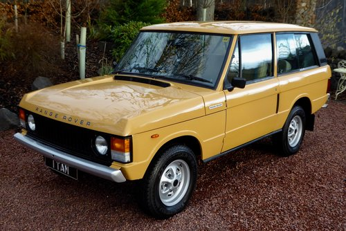 1980 Range Rover Classic 2 door in fantastic condition SOLD (picture 1 of 6)