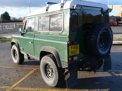 2001 Low Milage Land Rover Defender 90 with 12 mths MOT SOLD (picture 4 of 6)