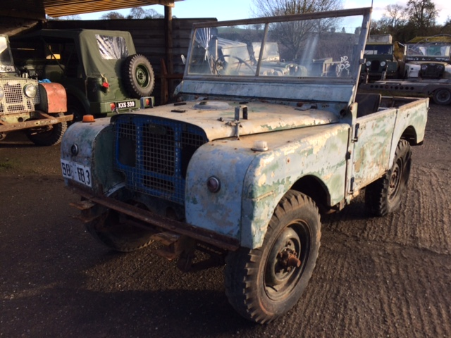 1950 Fish Plate Chassis Full Grill Series 1 80 inch Land Rover For Sale (picture 1 of 6)