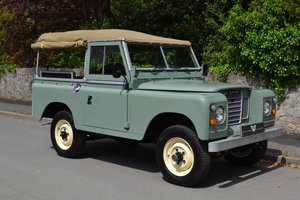 "1980 Land Rover Series 3 88"" Pastel Green Softop Fully Restored For Sale"