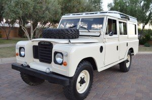 1982 Land Rover Series III 109 Wagon = Ivory(~)Tan $39.9k
