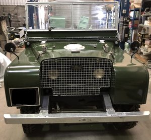 "1950 Land Rover Series 1 80"" Lights behind the grill. For Sale"